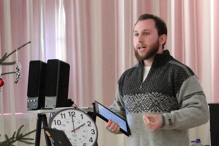 Naphtali Rivkin at the teacher training in Zemgale